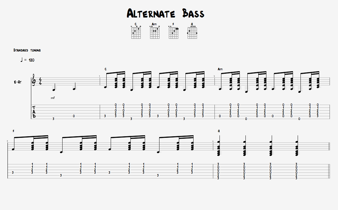 Country Licks, Alternate Bass