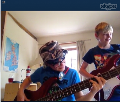 Skype Guitar & Bass lesson with Carlos Thrale