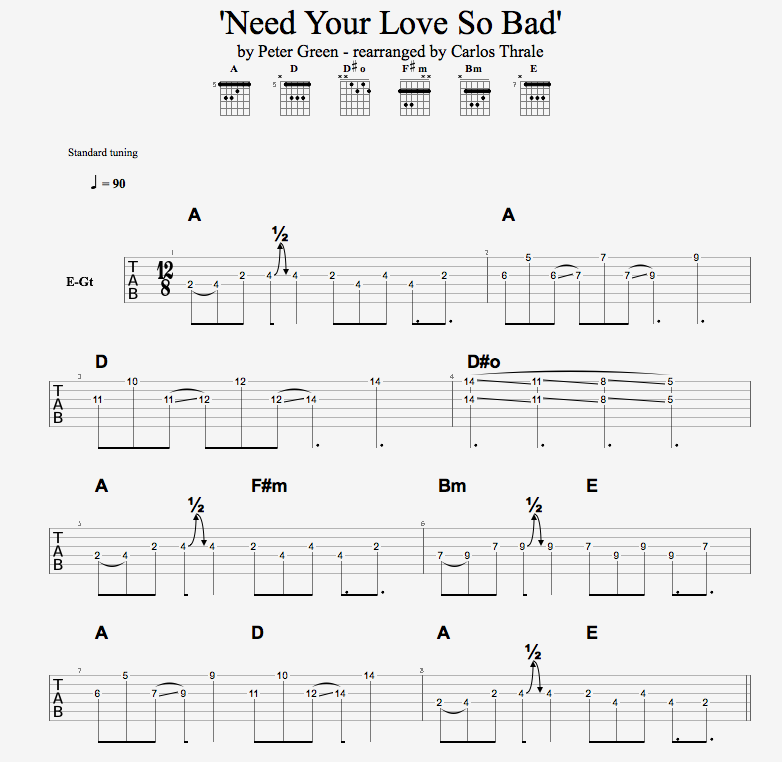 Need Your Love SCORE