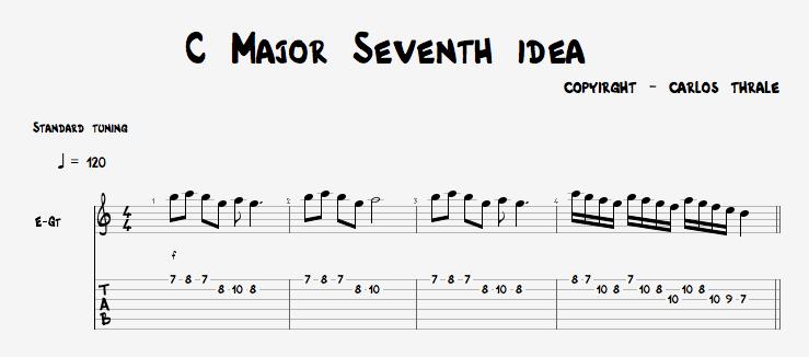 C Major Sevent Idea