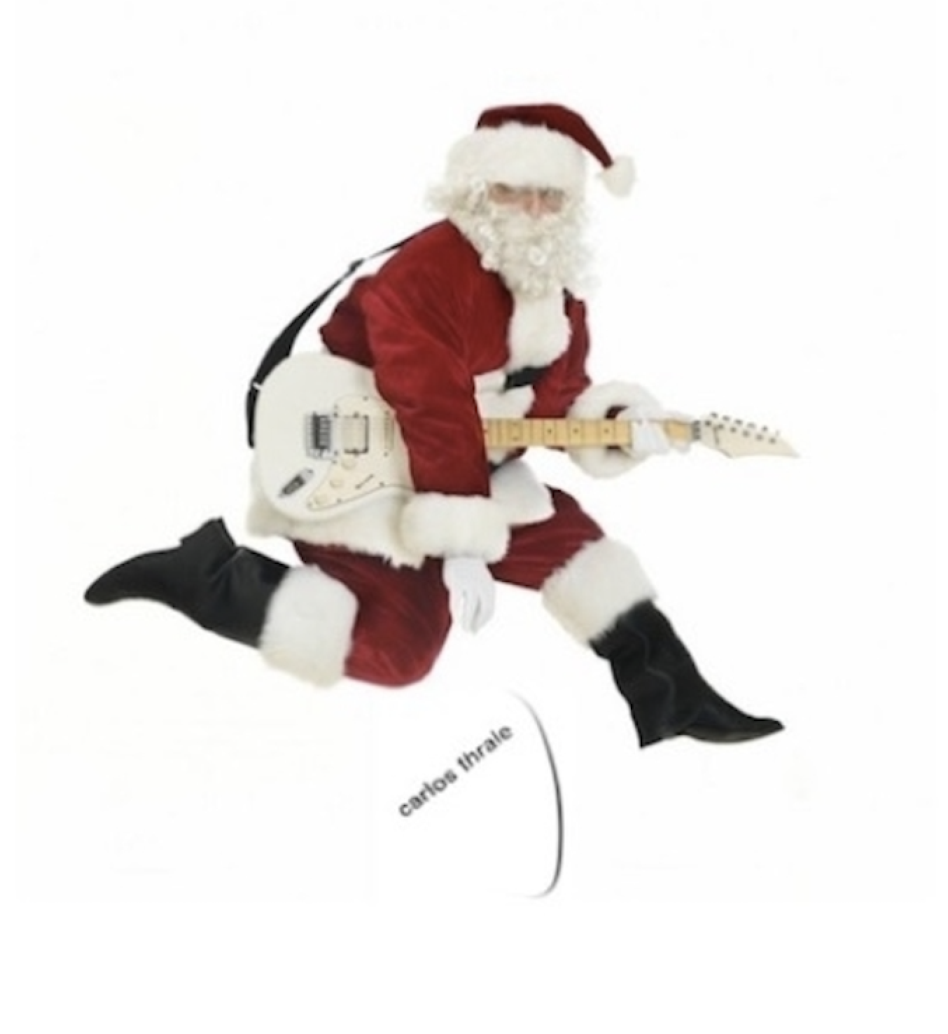 Guitar Santa for online lessons with Carlos Thrale
